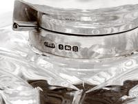 John Grinsell Silver Mounted and Cut Glass Swirl Design Inkwell (2 of 4)