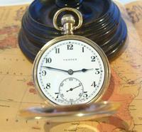 Swiss Vertex Pocket Watch 1926 15 Jewel 10ct Rose Gold Filled Case FWO (5 of 12)