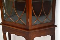Antique Mahogany Display Cabinet on Stand (9 of 10)