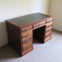 Oak Pedestal Desk - Edwardian (2 of 8)