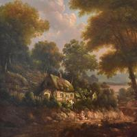 Fine cottage scene oil painting (4 of 9)