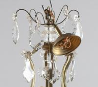 Large French Glass & Brass Chandelier (5 of 6)