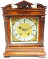 Wow! Superb Antique German Burr Walnut 8-Day Mantel Clock Striking Bracket Clock by Lenzkirch (2 of 10)