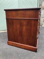 Antique Walnut Pedestal Writing Desk (4 of 13)