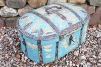 Scandinavian / Swedish 'Folk Art' Travel chest in blue paint and ironwork, 18th Century (27 of 37)