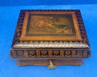 William IV Birch Penwork Jewellery Box (2 of 16)