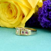 The Antique Victorian 1892 Pearl & Ruby Ring (2 of 6)