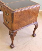 Quality Burr Walnut Kneehole Writing Desk (7 of 15)
