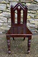 Antique Gothic Oak Hall Chair (2 of 13)