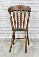 Set of 4 Windsor Lath Back Kitchen Chairs c.1890 (3 of 5)