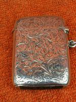 Antique Sterling Silver Hallmarked Large Vesta Case Sirus 1900, Horton & Allday (2 of 9)