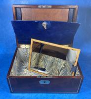 Georgian Brass Inlaid Mahogany Jewellery Box. (12 of 20)