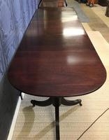 Mahogany Triple Pedestal Dining Table (7 of 10)