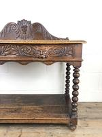 Victorian Gothic Oak Side Table with Green Man Details (13 of 17)