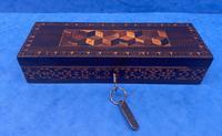 William IV Rosewood Glove Box with Stick Ware & Tunbridge Ware (5 of 14)