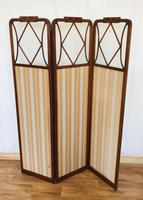 Edwardian Inlaid Mahogany Screen (13 of 13)