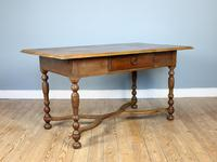 19th Century Single-Drawer Serpentine Stretcher Dining Table (7 of 8)