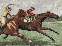 Sporting Wall Tapestry Scottish Horse Trainers Racing Glenrothes Scotland Signed (26 of 27)