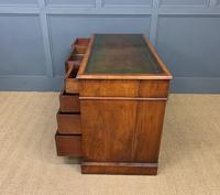 Edwardian Burr Walnut Pedestal Desk (14 of 14)