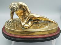 Beautiful Antique Dying Gaul / Gladiator Brass Sculpture (5 of 6)
