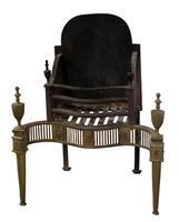 Brass George III Style Fire Basket c.1900 (2 of 5)