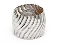 Victorian Silver Napkin Ring with a Chased Spiral Body (2 of 3)