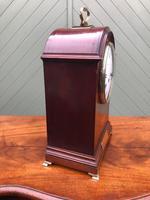 Edwardian Inlaid Mahogany Bracket Clock (5 of 11)