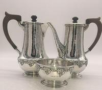 Silver Coffee Set by Arts and Crafts Silversmith A E Jones 1919 (8 of 12)