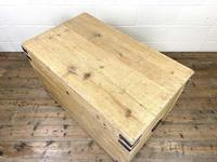 Antique Large Rustic Pine Trunk (8 of 10)