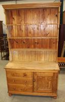 1920's Country Pine Original Dresser with Display Rack