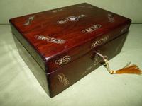 Inlaid Rosewood Jewellery / Table Box c.1860
