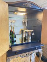 Vintage Burr Walnut Louis XV Style Drinks Cabinet (6 of 12)