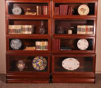 Pair of Globe Wernicke Mahogany Bookcases - 6 Elements (4 of 10)