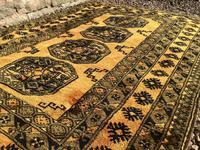 1960's Hand Woven Afgan Bokara Rug (3 of 7)