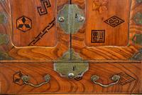 Excellent 19th Century Japanese Elm Jewellery Box / Table Cabinet (3 of 14)