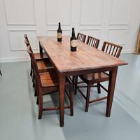 Antique French Farmhouse Table c1840 (2 of 6)