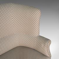 Antique Wing Sofa, English, Settee, Quality, High Back, Mahogany, Edwardian (12 of 12)