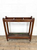 Antique Mahogany Three Section Stick Stand (4 of 8)