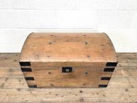 Rustic Antique Pine Dome Top Trunk (4 of 9)