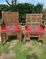 Pair of Moorish Middle Eastern Ottoman Islamic Throne Chairs - Liberty's of London / Liberty & Co (6 of 6)