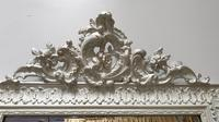 French Painted Silver Gilt Mirror (2 of 4)