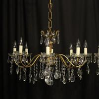 French Pair of 8 Light Antique Chandeliers (2 of 10)