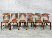 19th Century Matching Set of 6 Windsor Kitchen Chairs (5 of 6)