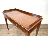 Victorian Two Drawer Mahogany Side Table (8 of 13)