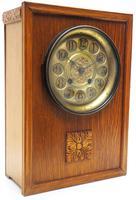 Antique German Arts & Crafts Mantel Clock Carved Detail 8 Day Mantle Clock (6 of 9)