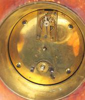Super Art Nouveau Mantle Clock Tulip Floral Inlay 8 Day Mantle Clock (3 of 15)