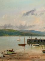 'The Lake District' Exceptional Vintage Seascape Oil On Canvas Painting c1960' (7 of 12)