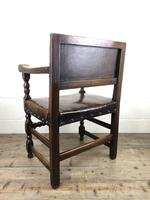 Set of Six Oak and Leather Dining Chairs (17 of 23)