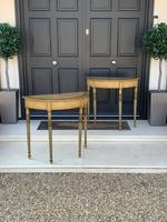 Fine Pair of Georgian Painted Demi-Lune Pier Tables (9 of 10)