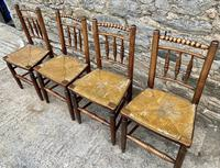 Set of 4 Antique Elm Country Chairs (5 of 13)